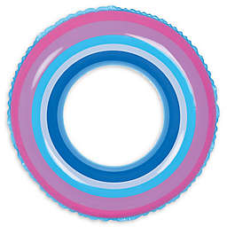 Pool Central Stripe 35-Inch Inner Tube Ring Float in Blue/Pink