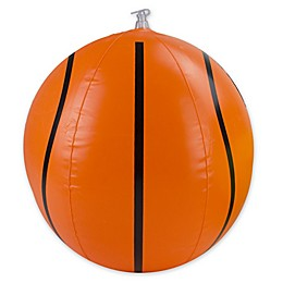 Pool Central 16-Inch Inflatable Beach Basketball in Orange