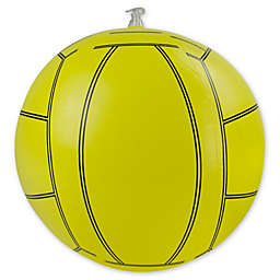 Pool Central 16-Inch Inflatable Beach Volleyball in Black/Yellow