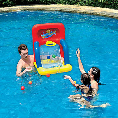 Pool Central Water Basketball Game in Blue/Yellow