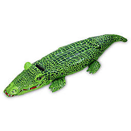 Pool Central Spotted Crocodile Rider Pool Float in Green