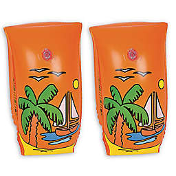 Pool Central Sailboat Voyage Pool Arm Floats in Orange