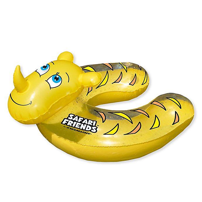 Alternate image 1 for Pool Central Rhino Split Ring Pool Float in Yellow
