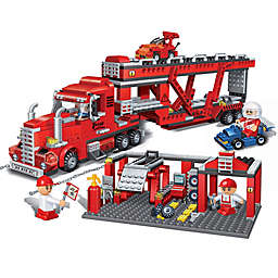BanBao Transportation Truck Building Set in Red