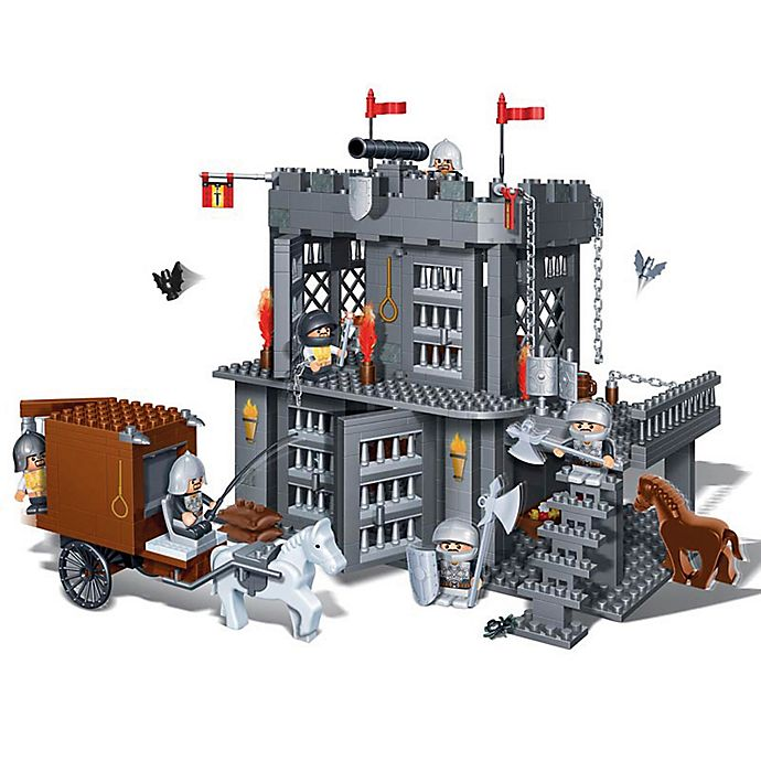Alternate image 1 for BanBao Medieval Prison Building Set