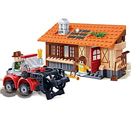 BanBao Harvester Tractor Building Set