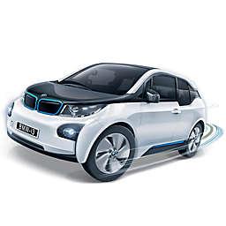 BanBao BMW I3 Mini Pullback Car Building Set in White