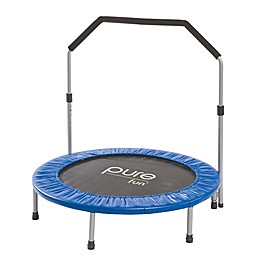 Pure Fun® 40-Inch Exercise Trampoline with Handrail