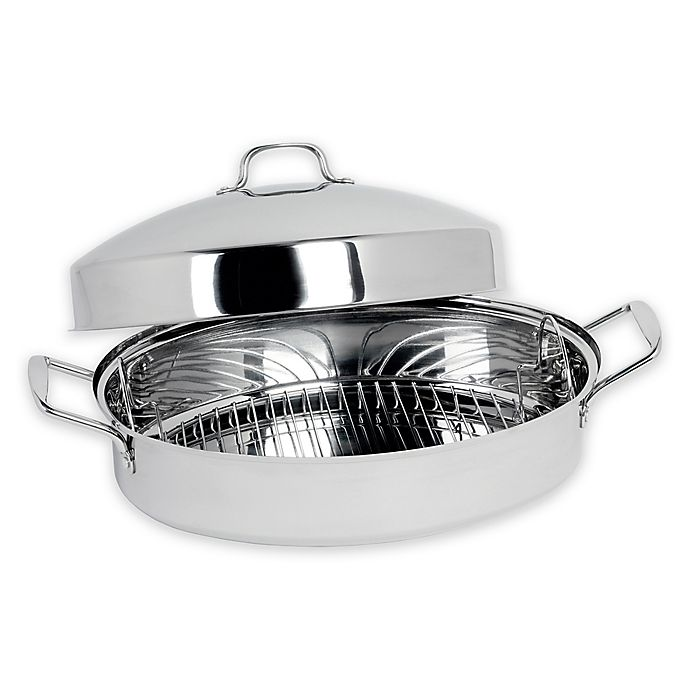 Alternate image 1 for SALT® 16-Inch Stainless Steel Dome Roaster
