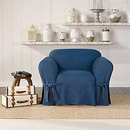 Tremendous Denim Chair Covers Bed Bath Beyond Theyellowbook Wood Chair Design Ideas Theyellowbookinfo