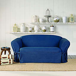 SUREFIT Authentic Denim Loveseat Slipcover