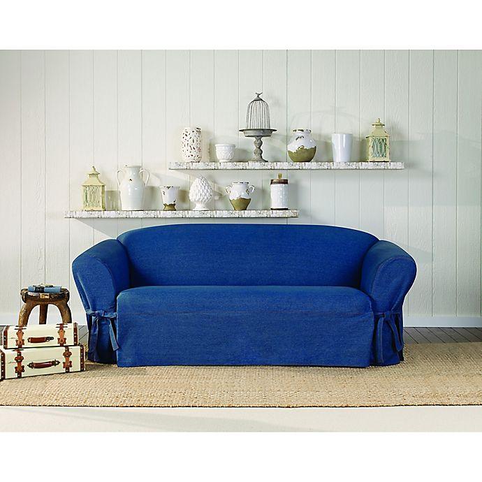 Surefit Authentic Denim Sofa Slipcover