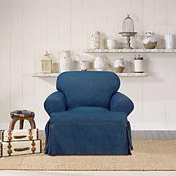 SUREFIT Authentic Denim T-Cushion Chair Slipcover