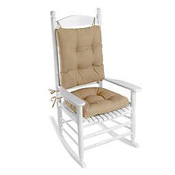 Klear Vu Husk Easy Care 2-Piece Rocking Chair Pad Set in Tan