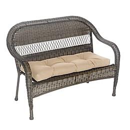Klear Vu Husk Easy Care Outdoor Bench Cushion in Tan