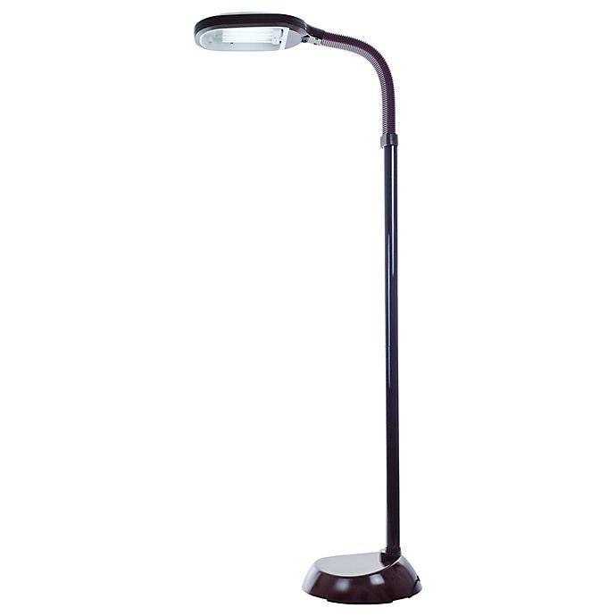 Alternate image 1 for Nottingham Home 5-Foot Sunlight Floor Lamp in Dark Wood