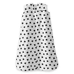HALO® SleepSack® Fleece Plus Signs Wearable Blanket in White/Black