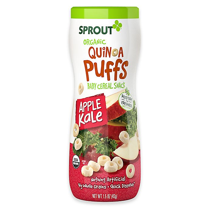 Alternate image 1 for Sprout® 1.5 oz. Organic Apple Kale Quinoa Puffs