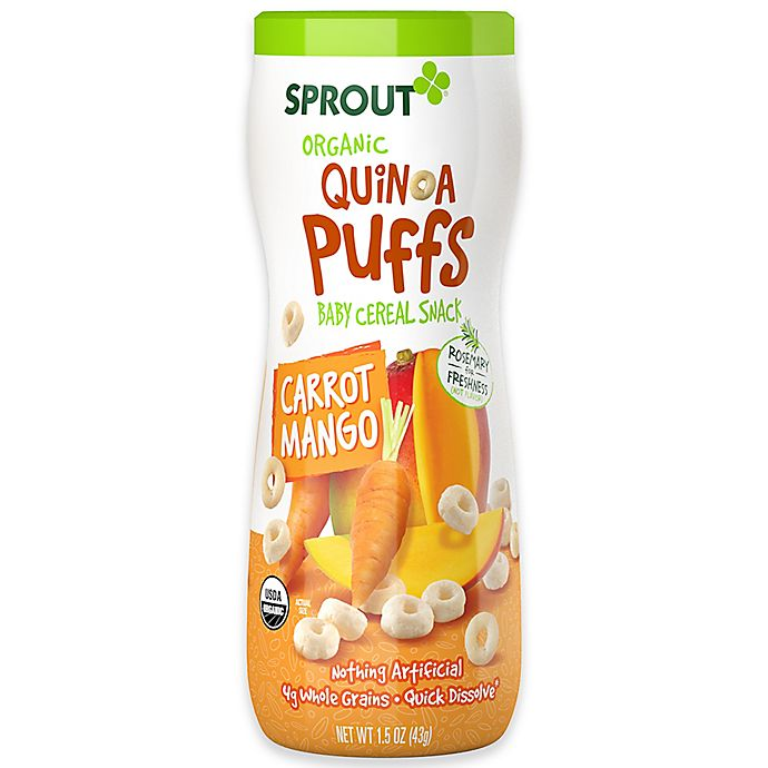 Alternate image 1 for Sprout® 1.5 oz. Organic Carrot Mango Quinoa Puffs