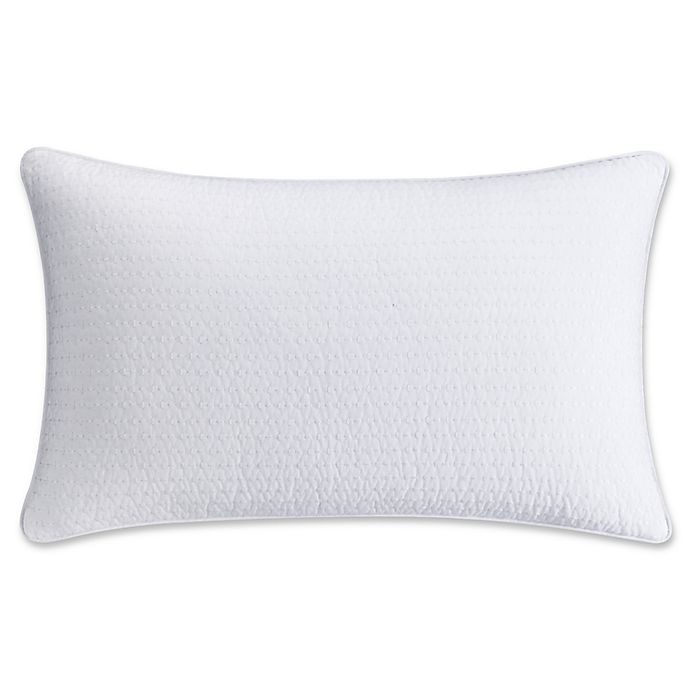 2c3d605296 Haven Embroidered Oblong Throw Pillow in White | Bed Bath & Beyond