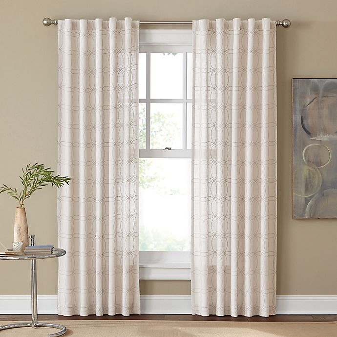 Alternate image 1 for Cambria® Santorini 108-Inch Rod Pocket/Back Tab Window Curtain Panel in Natural