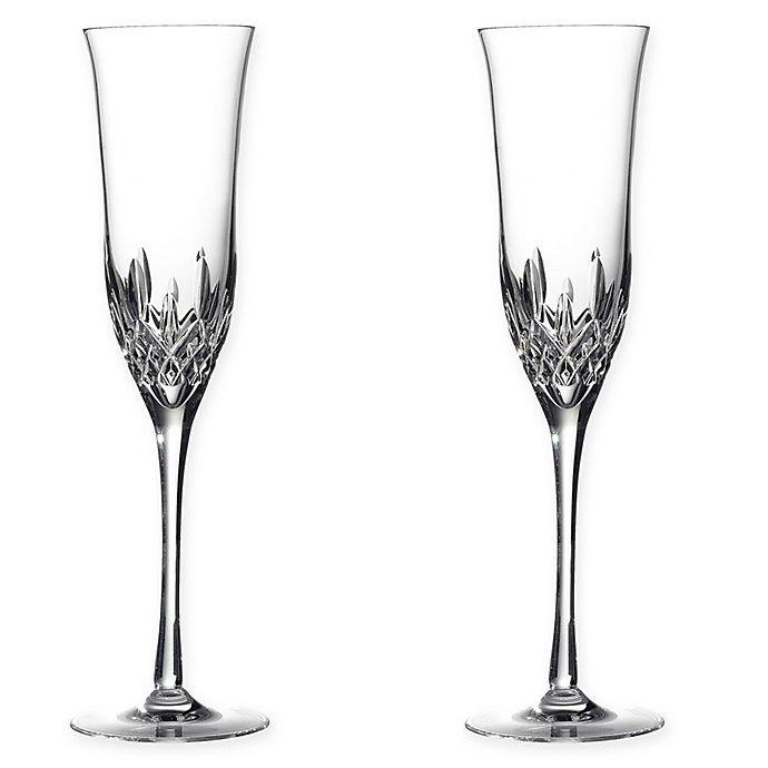 Alternate image 1 for Waterford® Lismore Essence Toasting Flutes (Set of 2)