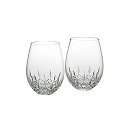 Waterford® Lismore Nouveau Stemless Crystal 18 oz. Deep Red Wine Glasses (Set of 2)
