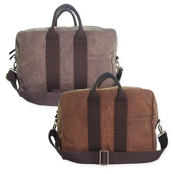 Cb Station 12 Inch Waxed Canvas Voyager Carry On Duffle Bag