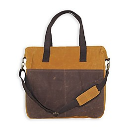 CB Station 16-Inch Waxed Canvas Multi-Pocket Travel Tote