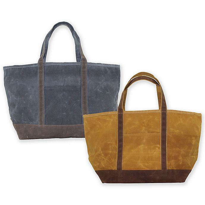Alternate image 1 for CB Station 14-Inch Waxed Canvas Large Boat Tote