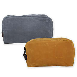 CB Station Waxed Canvas Plastic Lined Travel Kit