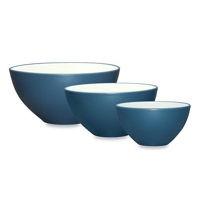 Alternate image 1 for Noritake® Colorwave 3-Piece Bowl Set in Blue
