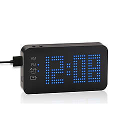 Westclox 4,000mAh Power Bank Travel Clock in Black