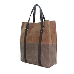 CB Station Waxed Canvas Voyager Tote in Khaki & Olive