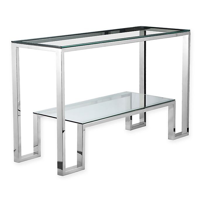 Sensational Pangea Home Laurence Console Table In Silver Bed Bath Beyond Machost Co Dining Chair Design Ideas Machostcouk