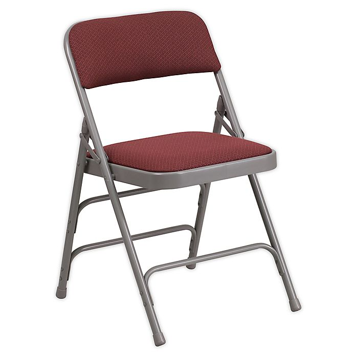 Alternate image 1 for Flash Furniture Fabric Folding Chair in Burgundy