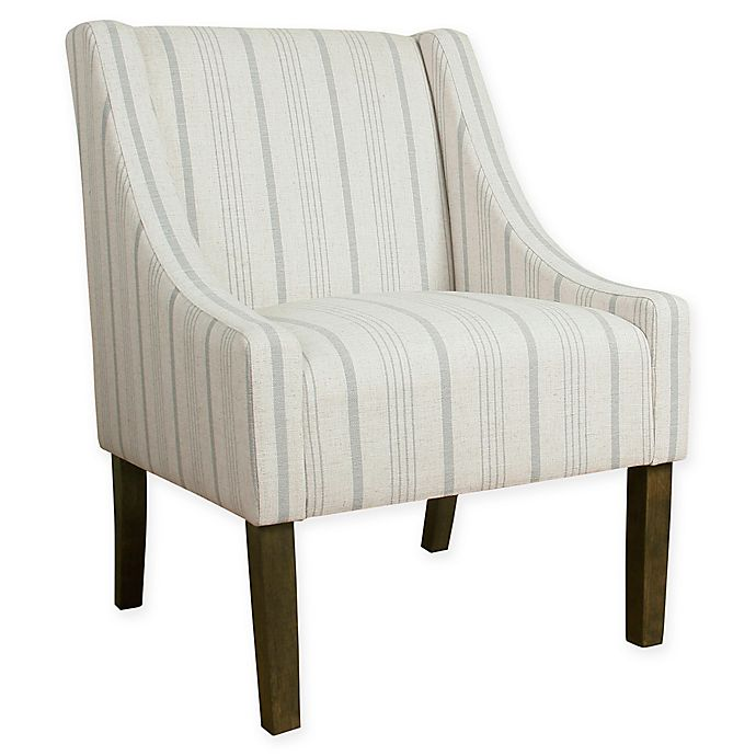 Alternate image 1 for HomePop Calypso Stripe Accent Chair in Grey