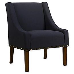 HomePop Swoop Linen Upholstered Modern Accent Chair