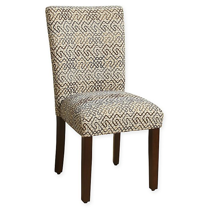 HomePop Parson Dining Chairs In Brown/Blue Modern