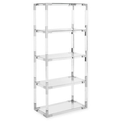Safavieh Couture Hayley Acrylic Bookshelf In Silver Clear
