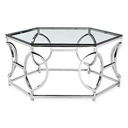 Pangea Home Arthur Coffee Table in Silver