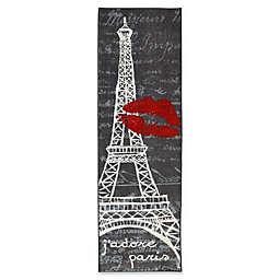 Mohawk Home Paris Love Eiffel Tower Runner in Grey