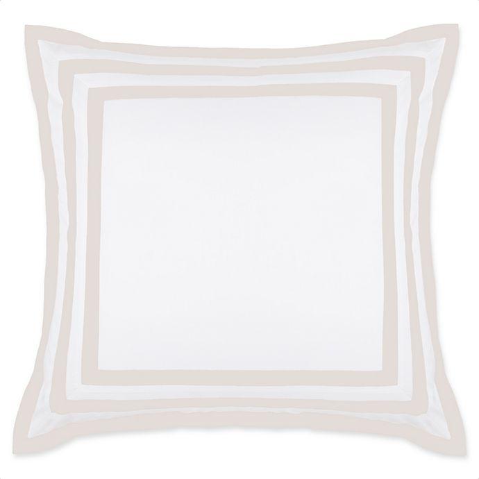 Alternate image 1 for Wamsutta® Hotel Border MICRO COTTON® European Pillow Sham