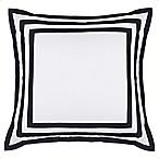 Wamsutta® Hotel Border MICRO COTTON® European Pillow Sham in White/Navy