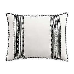 Cupcakes and Cashmere Folk Floral Pillow Sham in Black/White