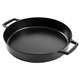 Artisanal Kitchen Supply® Pre-Seasoned Cast Iron 14-Inch Everyday Pan in Black