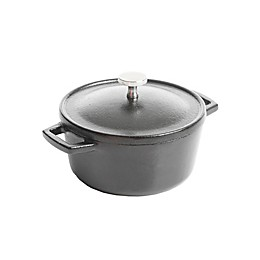 Artisanal Kitchen Supply® Pre-Seasoned Cast Iron 4-Inch Mini Dutch Oven in Black