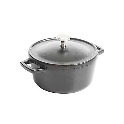 Artisanal Kitchen Supply® Pre-Seasoned Cast Iron 4-Inch Mini Dutch Oven in Black