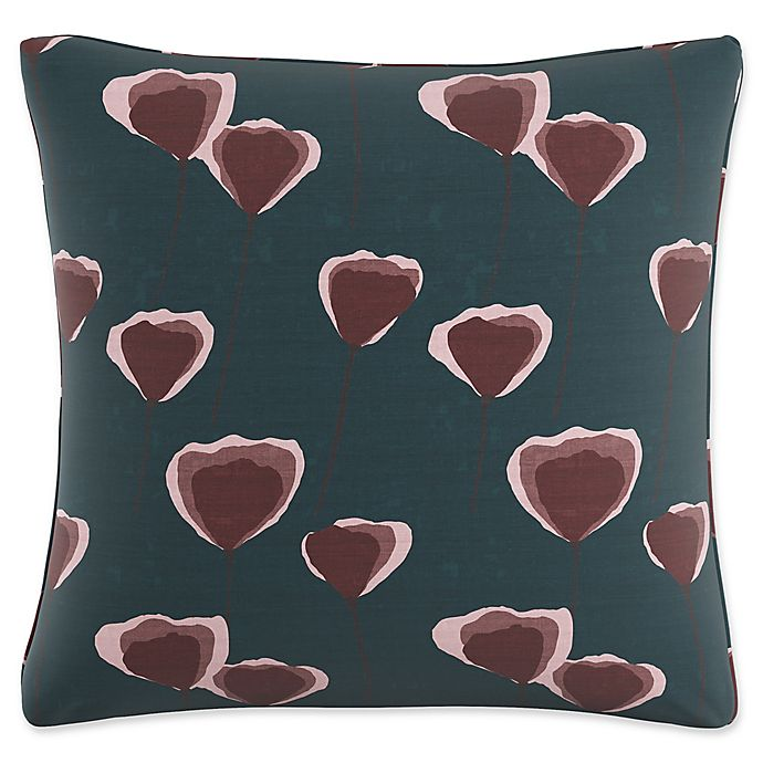 Alternate image 1 for Skyline Floral Square Throw Pillow in Turquoise