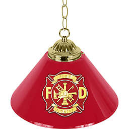 Firefighter Pendant Bar Light in Red